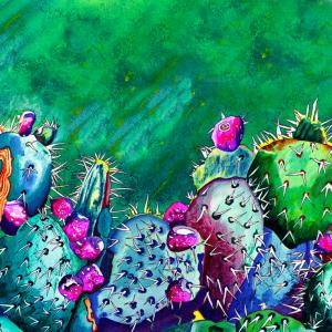 Sedona Cactus Panorama