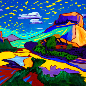Inspired, take in the gentle flow of shapes and color with a sky that has its personality, captured in this new landscape of Courthouse Butte, Sedona