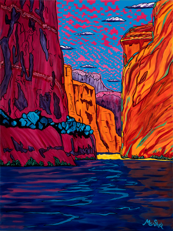 Colorful art for your walls of the Colorado River